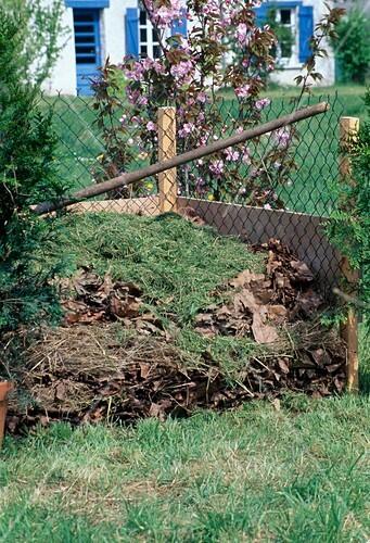 kompost rasenschnitt und herbstlaub auf dem kompost bild kaufen friedrich strauss. Black Bedroom Furniture Sets. Home Design Ideas
