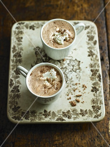 Hot chocolate with cream and chocolate sprinkles