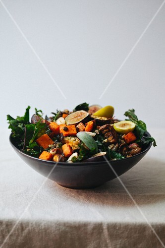Fig and sweet potato salad