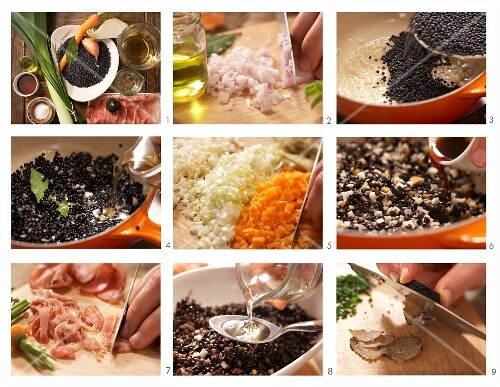 How to make spotted beluga lentils