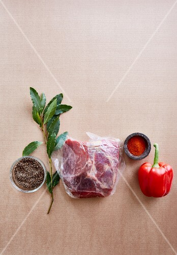 Ingredients for goulash