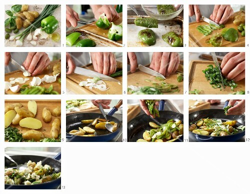How to make potatoes and greens