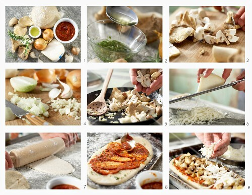 How to make mushroom pizza