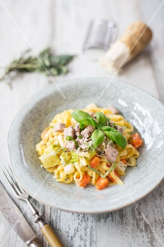 Tagliatelle with tafelspitz (boiled beef) and carrots