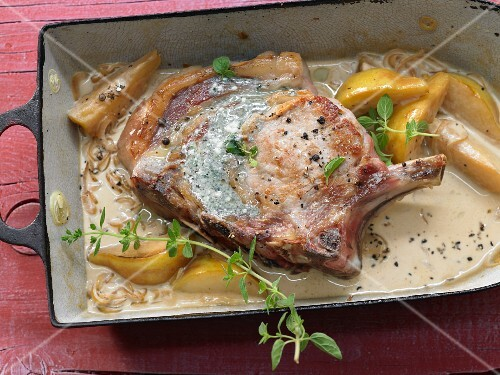 Stuffed veal cutlet with Roquefort