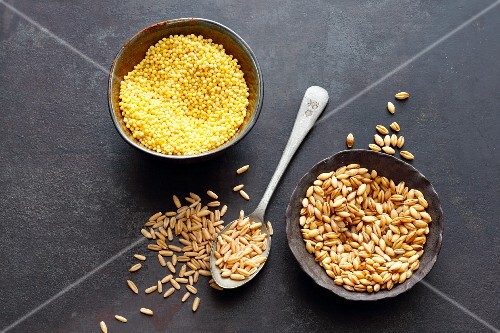 Barley, oats and millet