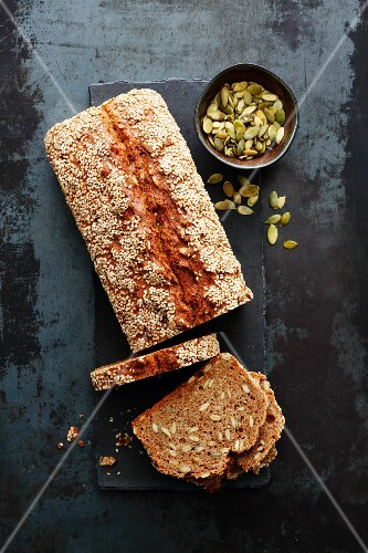 Wholemeal spelt bread with pumpkin seeds