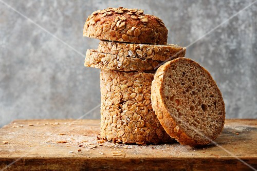 A round loaf of spelt and buckwheat bread