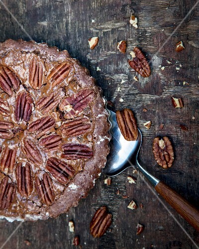 Chocolate pecan pie (USA)