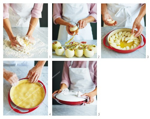 Tarte tatin being made (German Voice Over)