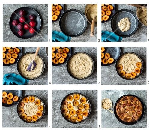 How to make plum and almond cake