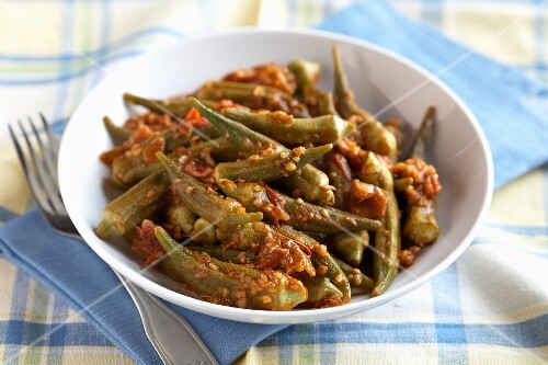 Okra with chilli sauce