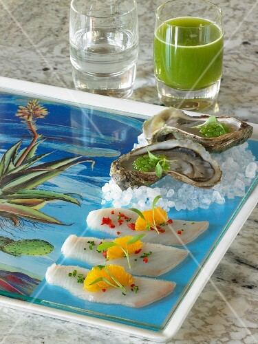 Sashimi, oysters and tequila (Japan)
