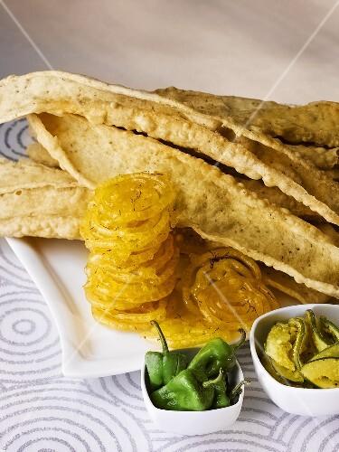 Papaya Art Calendar Uk : Fafda chick pea snacks with jalebis chillies and papaya