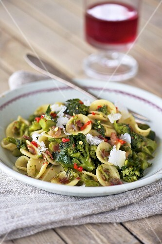 Orecchiette with broccoli, pancetta and Parmesan