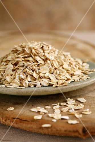 Oat flakes on a plate