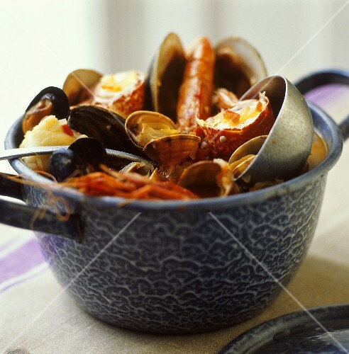 Zarzuela (Spanish fish stew)