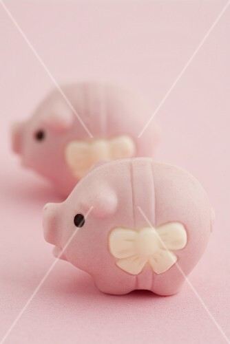 Two lucky pink pigs