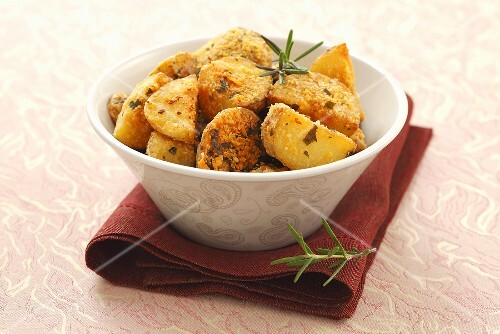 Roast potatoes with Parmesan and rosemary