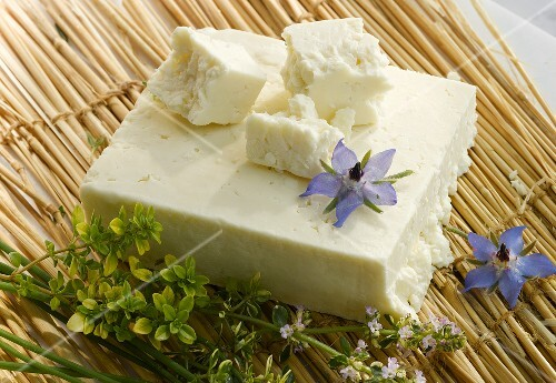 White Cheshire cheese (England) with herbs