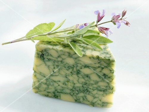 A piece of sage cheese (England)
