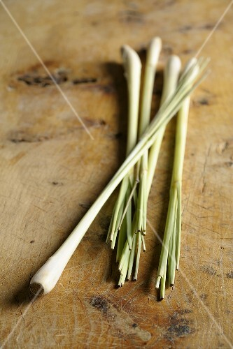 Lemon grass on wooden background