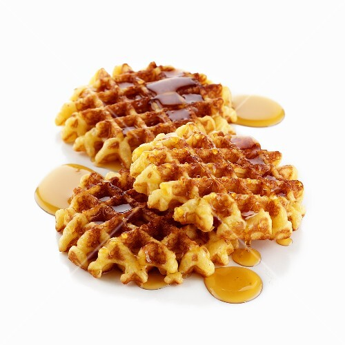 Waffles with maple syrup – StockFood