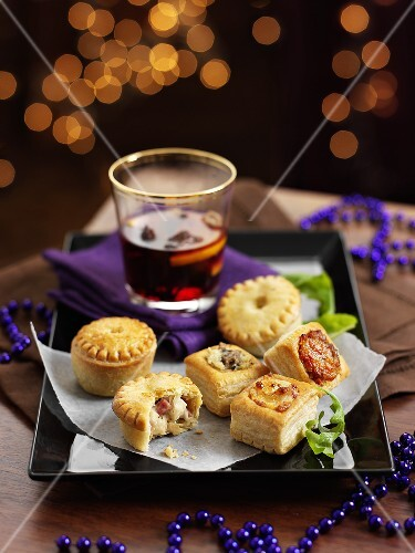 Mini chicken pies and steak pies for Christmas dinner