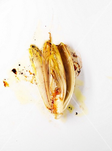 Braised chicory with hazelnut oil