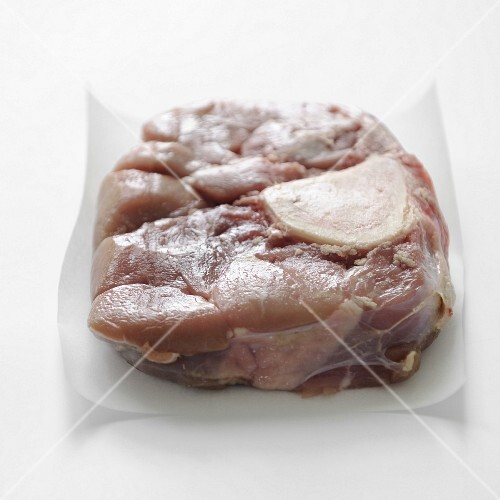 Raw veal shank for osso-bucco