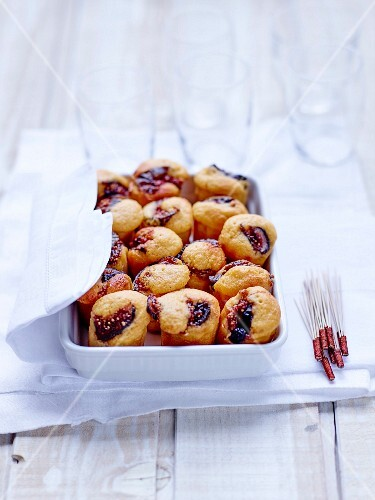 Gluten-free sweet potato and fig Cannelés