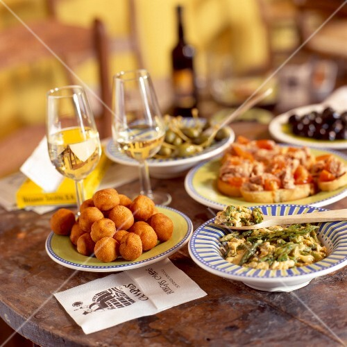 selection of andalusian tapas