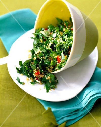 Lebanese Tabouleh with herbs