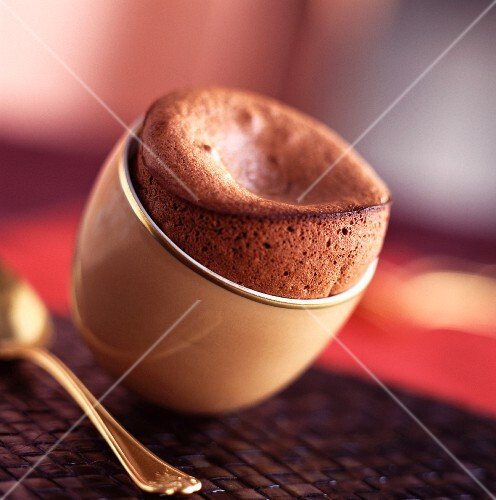 Chocolate and coffee soufflé