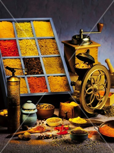 Still life of spices
