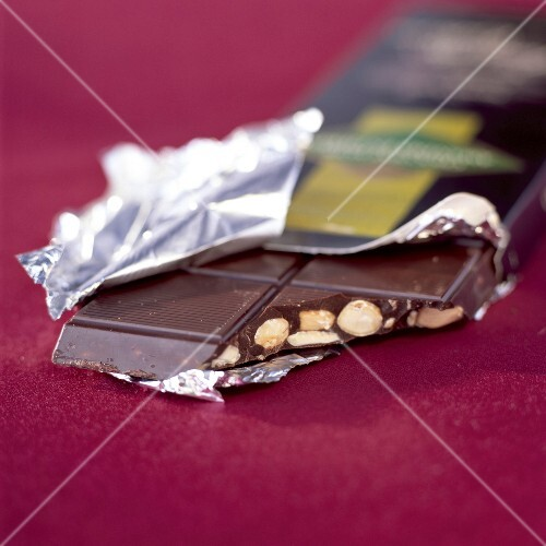 bar of hazelnut and almond chocolate