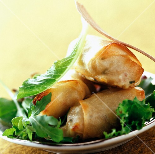 Goat's cheese wrapped in crispy filo pastry