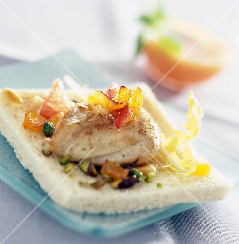 Chicken breast with citrus fruit