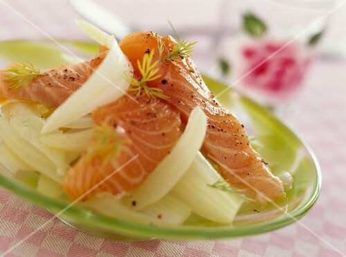 Salmon and fennel carpaccio