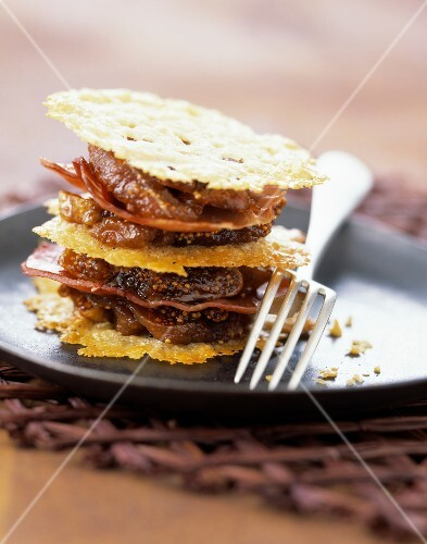 parmesan, serrano and fig mille-feuille