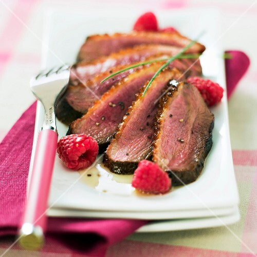 Duck breast with honey