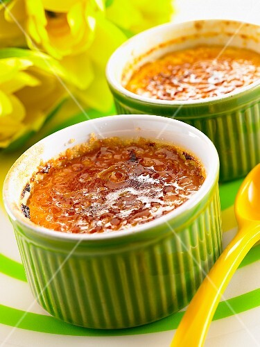 Rice pudding with caramel
