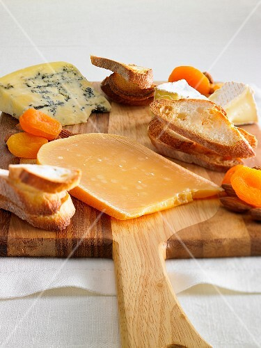 A mixed cheese platter