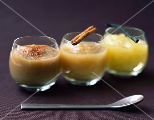 Zen trio of stewed fruits with spices