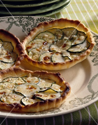 Courgette and Parmesan tartlets