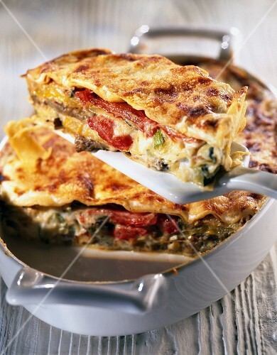 Vegetable lasagnes
