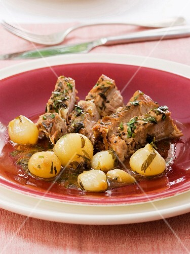 veal with grelot onions