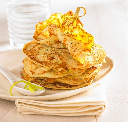Crepes with leek