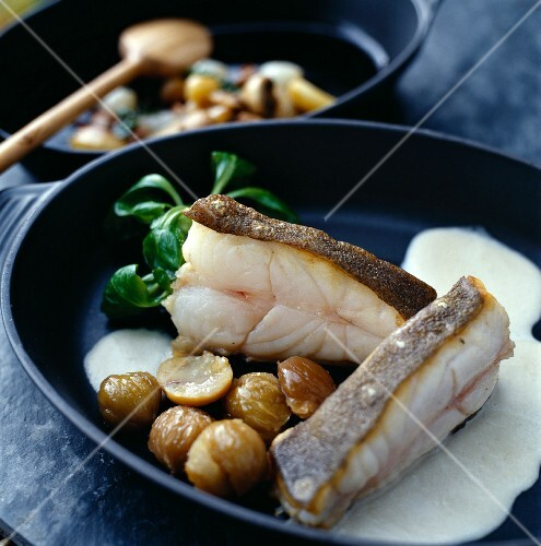 Cod with chestnuts