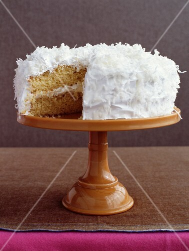 Moist coconut cake